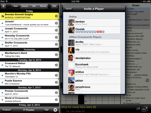 3. Friends List iPad