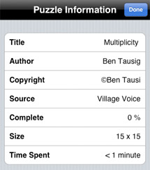 Crossword puzzle data and prefs